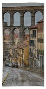 Rainy Afternoon In Segovia Beach Towel