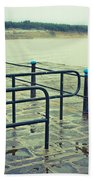 Rainy Day At The Sea Front Beach Towel