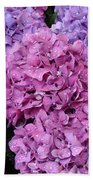 Rainy Day Flowers Beach Towel