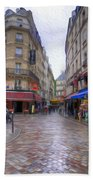 Rainy Day In Paris Beach Towel