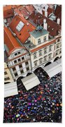Rainy Day In Prague-2 Beach Sheet