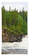 Rancheria Falls Along Alaska Highway In Yk-canada   Beach Towel