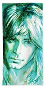 Randy Rhoads Portrait Beach Towel