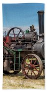 Ransomes Steam Engine Beach Towel