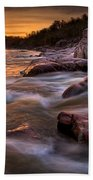 Rapids At Dawn Beach Towel