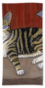 Rascal The Cat Beach Towel