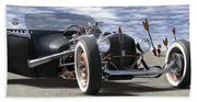 Rat Rod On Route 66 2 Panoramic Beach Sheet