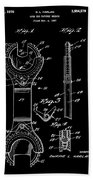 Ratchet Wrench Patent Beach Towel