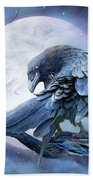 Raven Moon Beach Towel