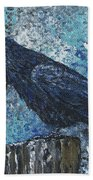 Raven Study 3 Beach Towel