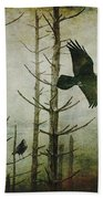 Ravens Of The Mist Artistic Expression Beach Towel