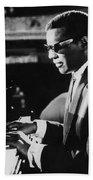 Ray Charles At The Piano Beach Towel