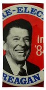 Re-elect Reagan Beach Towel by Paul Ward