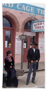 Re-enactors Bird Cage Theater Rendezvous Of The Gunfighters Tombstone Arizona 2004            Beach Towel
