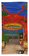 Ready For The Day At The Crab Shack Beach Towel