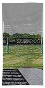 Ready For The Football Season Panorama Digital Art Beach Towel
