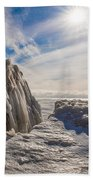 Ready To Let Loose Ice Formation Beach Towel