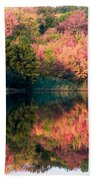 Ready To Sail In The Fall Colors Beach Towel