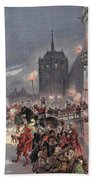 Reception Of Charles V In Amboise Beach Towel