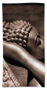 Reclining Buddha Beach Towel by Adrian Evans