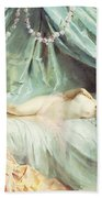 Reclining Nude In An Elegant Interior Beach Towel by Madeleine Lemaire
