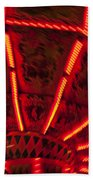 Red Abstract Carnival Lights Beach Sheet