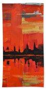Red Amazon Sunset Beach Towel