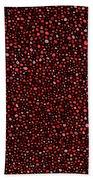 Red And Black Circles Beach Towel by Janice Dunbar