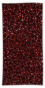 Red And Black Circles Beach Towel