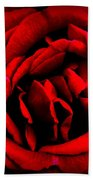 Red And Black Layers Beach Towel