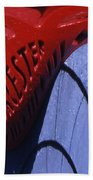 Red And Blue Fantasy Beach Towel