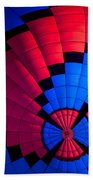 Red And Blue Pattern Beach Towel