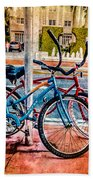 Red And Blue Rides Beach Towel