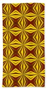 Red And Gold Christmas Abstract Beach Towel