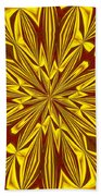 Red And Gold Christmas Kaleidescope Beach Towel