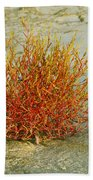 Red And Yellow Desert Color Beach Towel