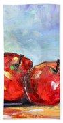 Red Apples Beach Towel
