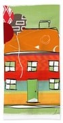 Red Balloon Beach Towel