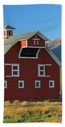 Dn5939-red Barn In The Wallowas Beach Towel