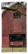 Red Barn Series Picture C Beach Towel