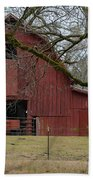 Red Barn Series Picture E Beach Towel