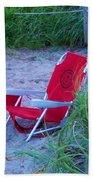 Red Beach Chair Beach Towel