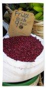 Red Beans At Nicaragua Market Beach Towel