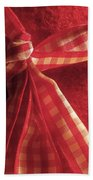 Red Bow Beach Towel