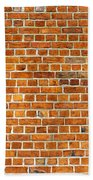 Red Brick Wall Texture Beach Towel