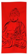 Red Buddha Beach Towel