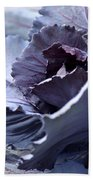 Red Cabbage Abstract Beach Towel