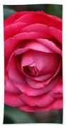 Red Camellia Beach Towel