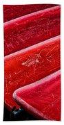 Red Canoes Beach Towel