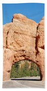 Red Canyon Tunnel Beach Towel